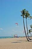 beachfront semesterort Arkivfoton