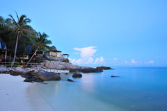 beachfront semesterort Arkivbilder
