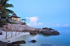 beachfront semesterort Royaltyfri Fotografi
