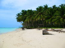 Beachfront of a tiny island off West Sumatra, Indonesia Royalty Free Stock Photography