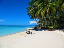 Beachfront of a tiny island off West Sumatra, Indonesia Stock Photo