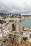 Beachfront tower, mediterranean Stock Images
