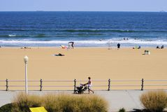Beachfront. View from a beachfront hotel room in Virginia Beach Royalty Free Stock Image