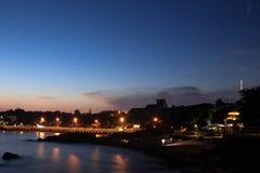 Beachfrontnacht Royalty-vrije Stock Fotografie