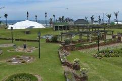 Beachgarden aan seasitekosten in Durban Royalty-vrije Stock Afbeelding