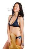 Beachgirl royalty free stock photo