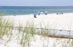 beachgoers Φλώριδα Στοκ Εικόνα