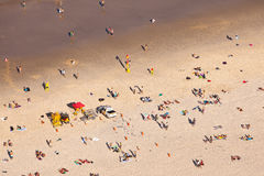 Beachgoers at Surfers Paradise Gold Coast Queensland Australia stock image