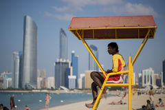 Beachguard bei Abu Dhabi Stockbilder