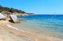 BeachHalkidiki моря лета, Греция Стоковое Фото