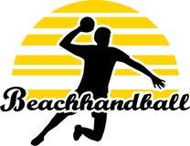 Beachhandballspeler Stock Fotografie