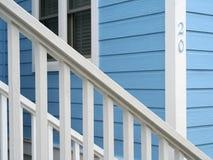 Beachhouse corner. Corner of bright blue beach house Royalty Free Stock Image
