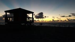 Beachhouse Miami Arkivfoton