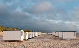 Beachhouses in loekken Stock Photos