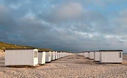 Beachhouses loekken binnen Stock Foto's
