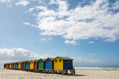 Beachhouses at Muizenberg Beach, Cape Town, South Africa. Beachhouses at Muizenberg Beach, Cape Town in South Africa Royalty Free Stock Photo