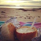 Beachin chowder Royalty Free Stock Image