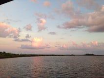 Beachin. Ponce inlet dock backyard royalty free stock photo