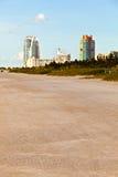 Beachlife à la plage blanche à Miami du sud Photos stock