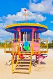 Beachlife na praia branca em Miami sul Imagens de Stock