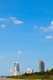 Beachlife am weißen Strand in Südmiami Lizenzfreie Stockfotos