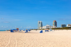 Beachlife at the white beach in South Miami Stock Photography
