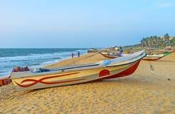 The beachline of Negombo Stock Images