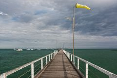 Beachport Jetty, South Australia stock photography