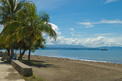 Beachscape 8893. Sun, sand, and sky: a tropical scene in Puntarenas, Costa Rica Royalty Free Stock Photography