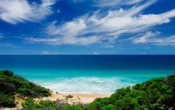 Beachscape cénico fotografia de stock