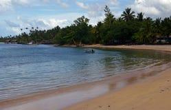 Beachscape du Samoa-Occidental Image stock