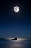 beachscape malibu księżyc Obrazy Stock