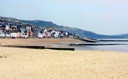 beachscapelyme regis Royaltyfri Bild
