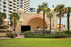 Beachside bandshell performance venue royalty free stock photo