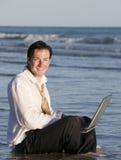 Beachside Businessman Stock Photography