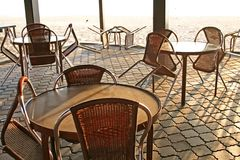 Beachside cafe Stock Photography