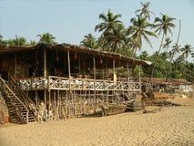 beachside cafegoa Arkivbild