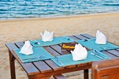 Beachside Dining Stock Photos
