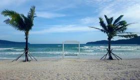 Beachside gunga i paradis Royaltyfri Fotografi