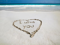 Beachside heart Royalty Free Stock Photo