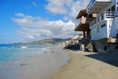 Beachside homes on Brooks Street Beach in South Laguna Beach, California. Stock Photography