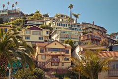 Beachside Houses. A photo of a residential area Royalty Free Stock Images