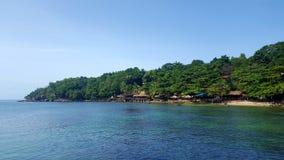 Beachside hutts Fotografering för Bildbyråer