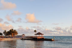 Beachside pavilion and walkway, bahamas Stock Photography