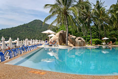 Beachside pool 1. Imeperial samui pool on koh samui thailand Stock Photos