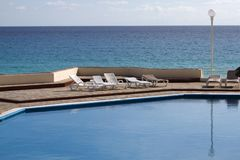 Beachside pool Stock Photo