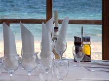 Beachside Restaurant View Royalty Free Stock Photo
