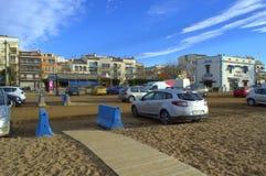 Beachside street,Spain Royalty Free Stock Photos