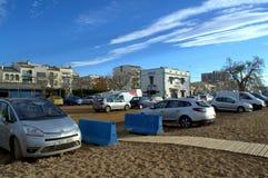 Beachside street,Spain Stock Photography