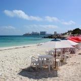 Beachside Umbrellas Stock Image